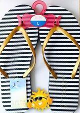 BNWT Womens Jack Wills /'Tidbury/' Multi Stripe Flip Flops Size 5 Or 6