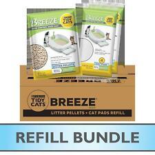 Purina Tidy Cats Cat Litter Box Pellets Absorbent Cat Pads, Breeze Refill Bundle
