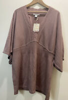 NWT Sarah Spencer Woman's Sweater Size 1X Dusty Pink Tunic Beautiful Detail Top