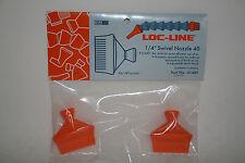 "Loc-Line 1/4"" Hose, (.040"" Dia Holes) Flat Swivel Nozzles 41481 NEW!!!"