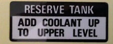 HONDA CBR900RR FIREBLADE RESERVE COOLANT TANK CAUTION WARNING LABEL DECAL