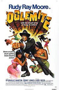 DOLEMITE Movie Poster Blaxploitation Shaft