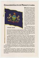 Vintage Commonwealth of Pennsylvania Tourist Information Brochure 1950's