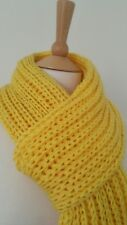 Long hand knitted scarf (colour available: yellow, red, green, white)