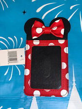 Disney Parks Minnie Mouse Dot Bow Credit Card ID Holder Wallet New!