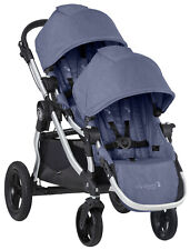Baby Jogger City Select Twin Tandem Double Stroller w Second Seat Moonlight 2019