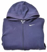 NIKE Boys Hoodie Sweater 12-13 Years Large Blue Cotton  GD09