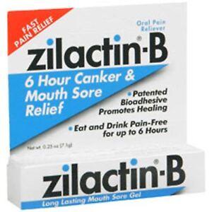 ZILACTIN B  COLD SORE GEL .25 OZ canker sores mouth sores
