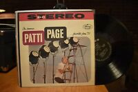 Patti Page On Camera…favorites from TV LP Mercury SR 60025 Stereo
