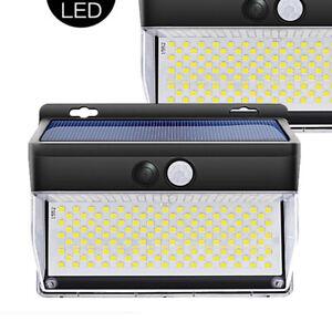 262 LED Lampe Solaire étanche sans fil applique murale solaire PIR Extérieur