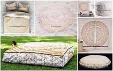 Indian Mandala Duvet Set/Tapestry/Floor Pillow/Curtain/Round Dog Bed Room Set
