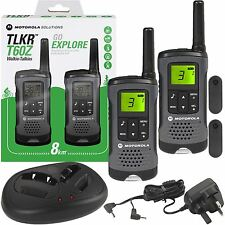 MOTOROLA TLKR-t60z Walkie Talkie Radio pmr446 8km Limited Edition Twin Pack Grigio