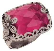 SILPADA .925 Sterling Silver Raspberry Glass  Berry-Licious Ring Size 7 R2306
