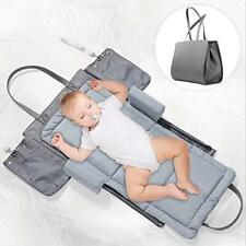 3 in 1 Portable Foldable Baby Bed Baby Lounger Travel Crib Infant Cot Newborn