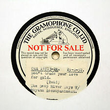 """THE DEEP RIVER BOYS """"Don't Trade Your Love For Gold"""" (E+) HMV TEST [78 RPM]"""