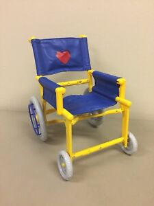 BUILD A BEAR WHEELCHAIR folding blue yellow (will also fit 18'' dolls)
