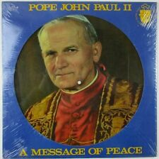 "HOARD of 250 MINT SEALED 1984 POPE JOHN PAUL II ""MESSAGE OF PEACE"" LPS! CV $50!!"