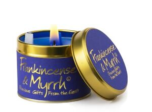 Brand New Lily Flame Frankincense & Myrrh Christmas Candle Free P&P