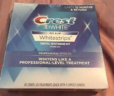 CREST 3D NO SLIP WHITE STRIPS- PROFESSIONAL EFFECTS- 40 STRIPS- NIB- EXP- 10/18