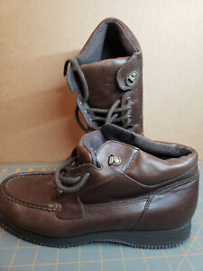 Easy Spirit Boot Vintage Brown Leather Size 10 M Black Rubber sole