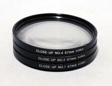 67mm Close-Up Macro Lens Filter Set +1 +2 +4 Closeup Kit for Canon Nikon Olympus