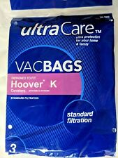 New 3 Bags Hoover K Canisters Upright Vacuum Vacbags 20-1052 Spirit S3410 Encore