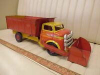 1950s WYANDOTTE Construction Dump / Loader Truck Pressed Steel Toy Original