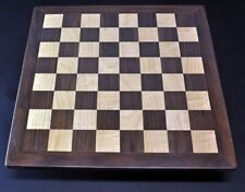 """Sweet Hill Wood Chess Board Walnut & Curly Maple 2¼ """" squares Tournament size"""