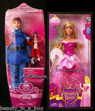 Prince Philip and Friends Aurora - Shimmer Sleeping Beauty Disney Doll Lot 2