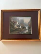 Thomas Kinkade Matted Collector's Print The Forest Chapel