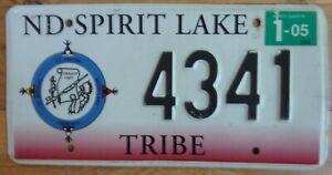 USA North Dakota  Native Tribe embossed car number plate 4341