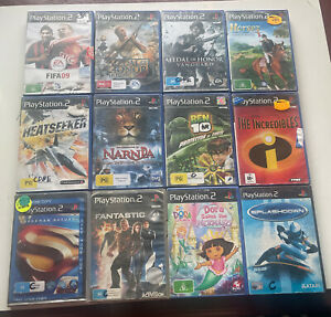 RARE! 12 Games Bundle Bulk Medal Of Honor Superman Playstation 2 PS2 TESTED!