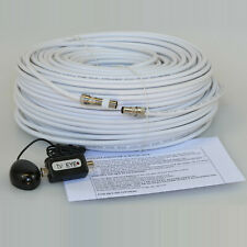 25M White Cable For Sky HD TV Link Magic Eye Kit, Everything You Need