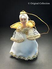 Christmas Ornament Beautiful Russian Doll NEW Handmade Hand painted Angel #821