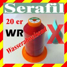 Amann Serafil Hilado 20 Wr 600 Metro Hilo de Coser Rojo R5771 Extremadamente