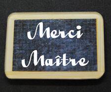 """Magnet style ARDOISE D'ECOLIER """"Merci Maître"""" cadeau fin année scolaire"""