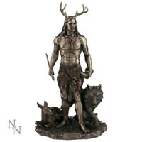HERNE & ANIMALS HUNTER FIGURINE ALTAR STATUE WICCAN PAGAN 30CM NEMESIS NOW