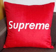 "Supreme LOGO Throw Pillow Case Cushion Cover Home Decor 18"" Red"