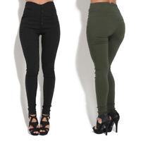 Women Stretch Pants High Waist Trousers Slim Legging Denim Skinny Pencil Jeans