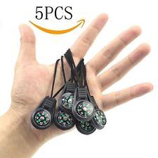 5Pcs Mini Compass Survival Kit Keychain Outdoor Camping Hiking Pocket Navigator