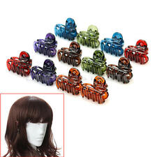 12x Pince à Cheveux Plastique Crabe Cheveux Hair Barrettes Accessoires Filles