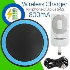 Qi Wireless Charge Pad Charging Receiver For iPhone 7/6S/6SE/5S/5C/5 iPad/mini