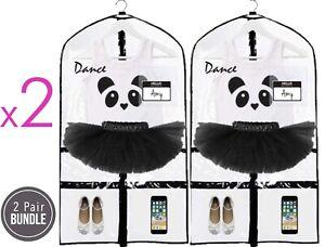 PACO Kid's Dance Garment Bags (Black Logo) - ✳️2 Pack Bundle✳️
