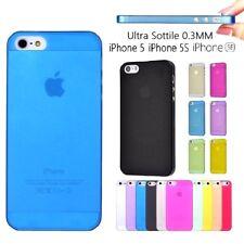 Cover Trasparente per iPhone 5 5S SE Custodia Colori ULTRA SOTTILE 0.3MM o PANNO