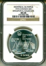 1973 S$5 Canada Montreal Olympics Kingston & Sailboats NGC MS68