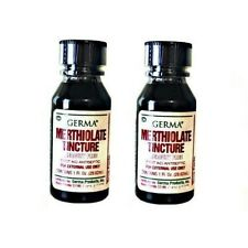MERTHIOLATE TINCTURE First Aid Antiseptic, Skin Infection, Scrape & Cuts (QTY 2)