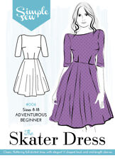 Womens ADVENTUROUS BEGINNER The Skater Dress UK SIZE 8-18 Sewing Pattern