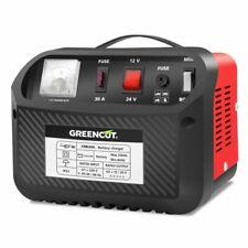 Greencut CRB300   Cargador de Batería Multifunción 12V / 24V - Rojo/Negro