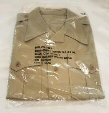 Vintage UNOPENED US Army Military Short Sleeve Uniform Shirt Mens 8405 292 9383