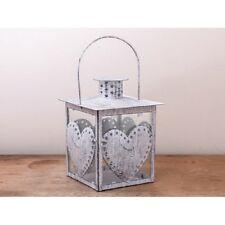 CUORE LANTERNA BIANCA Tealight titolare in metallo misura 9.5cm x 13cm-GRATIS P&P